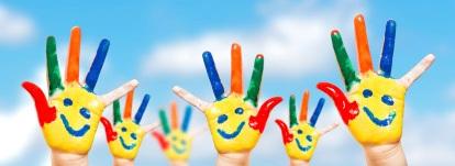 Hand painted children.